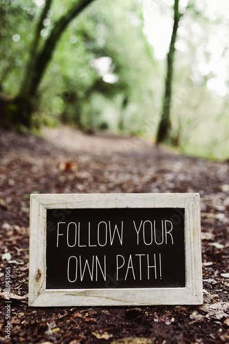 text follow your own path Poster