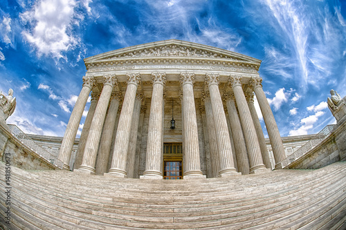 Supreme Court building in Washington dc detail Poster