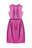 Pink dress isolated