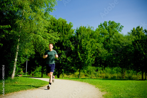 Deurstickers Jogging Fitness