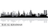 Ras al-Khaimah city skyline silhouette background