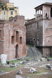 Architectural monument of the ancient city. Rome, Italy