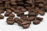 grains coffee white background