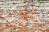 old red brick wall for backgrounds and compositions
