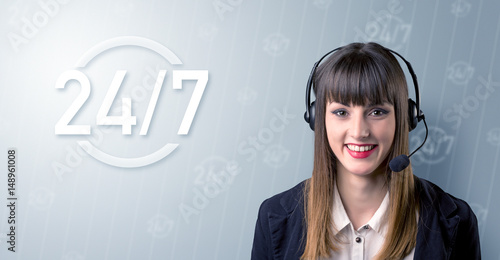 Poster Young Female telemarketer
