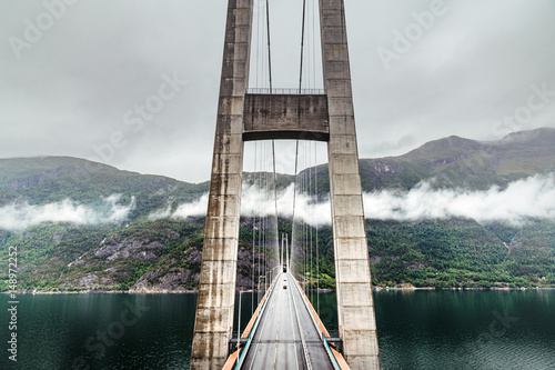 Hardanger bridge. Hardangerbrua. Norway, Scandinavia.