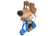 Cartoon cute dog character on motorbike. 3D rendering - 148978453