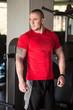 Man Posing In Red T-shirt