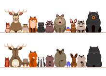 Woodland Animals Border Set Sticker