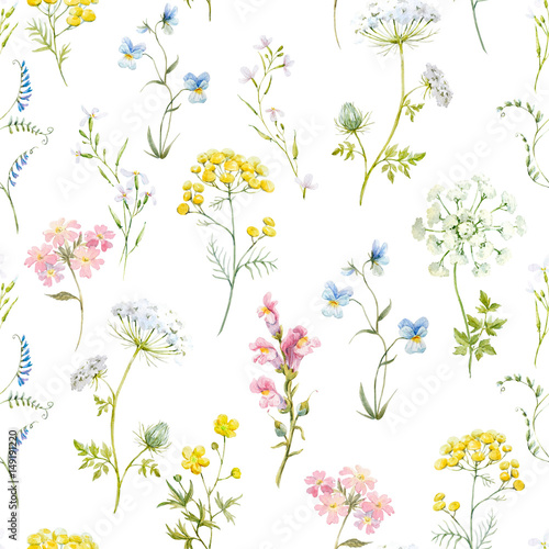 Watercolor floral pattern - 149191220