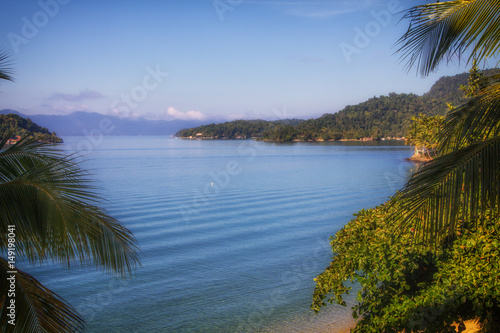 Plakat Tropical beach at Angra dos Reis, Brazil