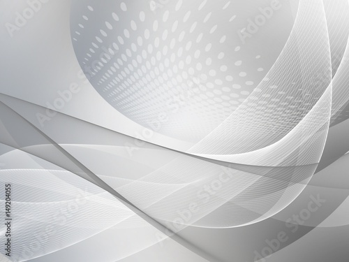 Silver wave abstract background  with halftone