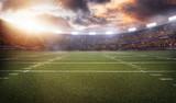 Fototapety american football stadium 3D in light rays render