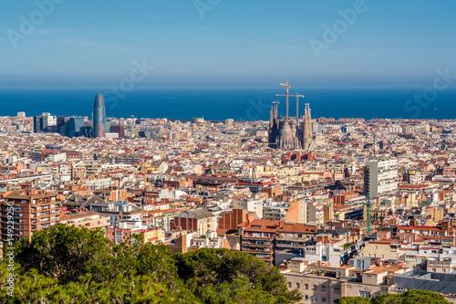 Poster Barcelona Barcelona cityscape overlook