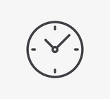 Clock Line Icon. Editable Stroke. - 149242067