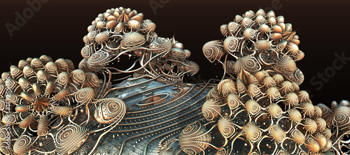 Abstract background, fantastic 3D structures
