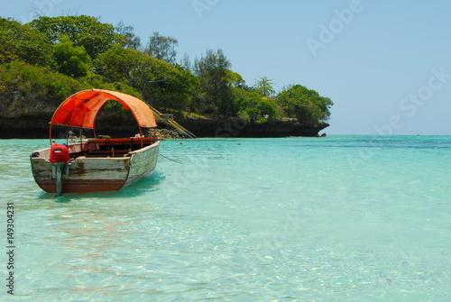 Boat and Beach in Zanzibar