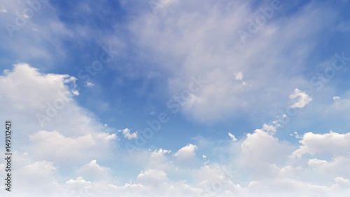 SUNNY SKY WITH WHITE CLOUDS