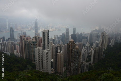 Poster Hongkong von oben