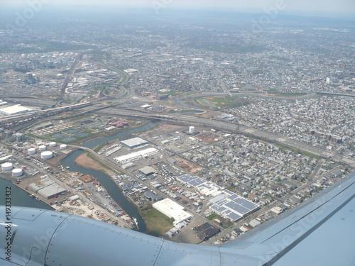 Foto op Plexiglas New York TAXI Flying over Newar airport