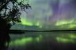 Aurora borealis reflection