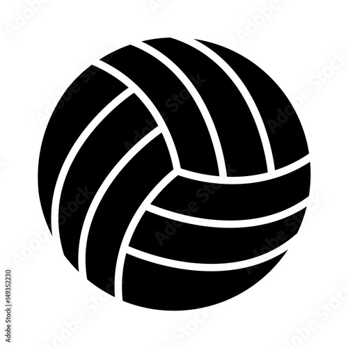volleyball ball icon over white background. sports equipment concept. vector illustration