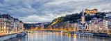 Saone river in Lyon city at evening - 149371466