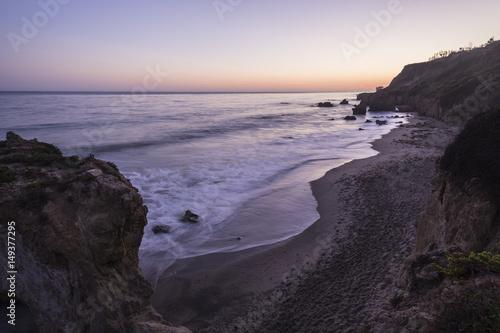 Early evening view of El Matador State Beach in Malibu California Poster