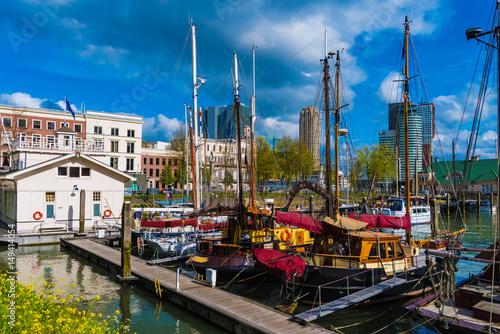 Fotobehang Rotterdam Alter Hafen Rotterdam