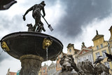 Old Town historic fountain in Gdansk