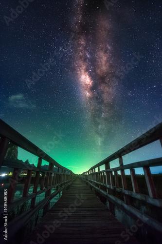 Milky Way. Beautiful summer night sky with stars. Background. © Em7