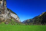 Farm on Lauterbrunnen Valley in Switzerland, Europe