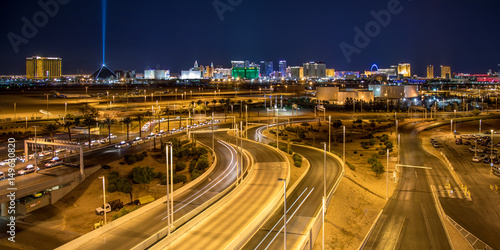 Las Vegas Skyline from McCarran International Airport Poster