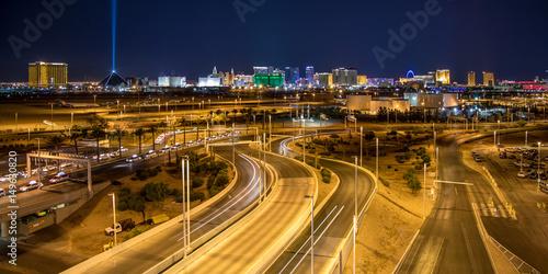 Las Vegas Skyline from McCarran International Airport Poster