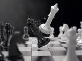chess battle concept idea
