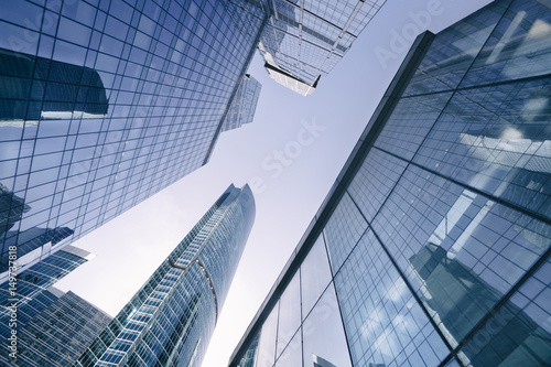 Moscow skyscrapers. Business center. Russia