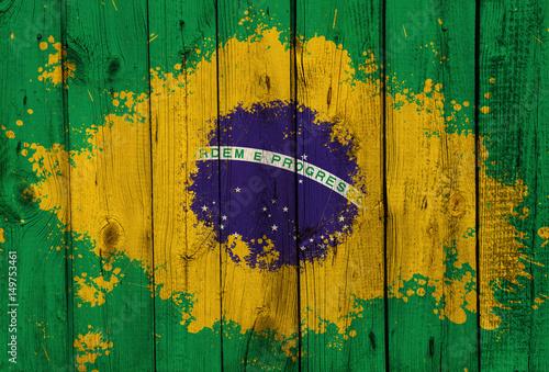 Plakat Brazil flag