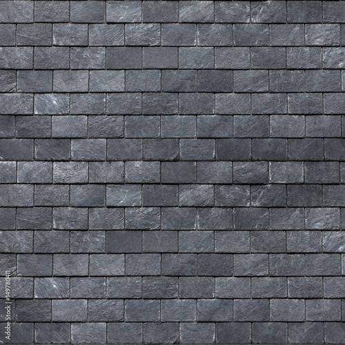 Roof (wall) of the Silesian black shale. Slate roofing tiles
