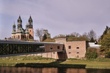 Prussian fortifications and towers of the Gothic cathedral cathedral in Poznan. - 149782832
