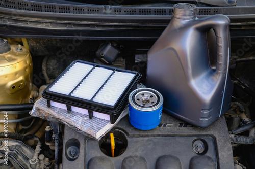 fototapeta na ścianę Parts for car maintenance