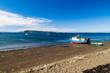 Boats in Achao village, Quinchao island, Chile