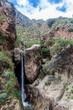 Tall waterfall in Quebrada del Colorado canyon near Cafayate, Argentina - 149810499