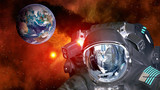 Astronaut planet Earth spaceman helmet ufo space martian alien et extraterrestrial. Elements of this image furnished by NASA.