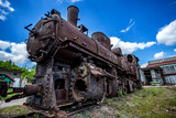 Vintage railway - old steam locomotive - 149820299