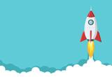 Rocket launch illust...