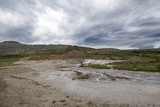 Hot Springs Landscape with Clouds