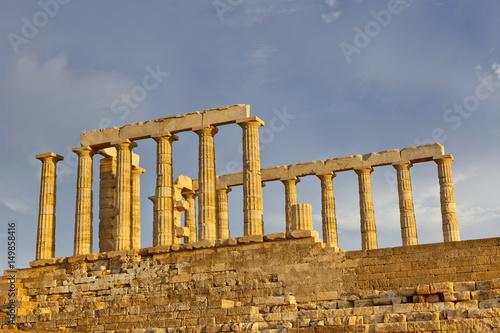 Ruins of Poseidon temple, Cape Sounion, Greece