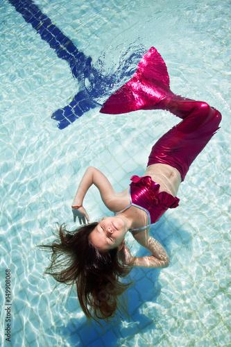 Girl in a mermaid suit Poster