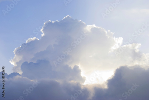 Pure white clouds with mystery sunlight - 149923690
