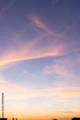 Sunset Sky Background Poster